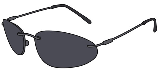 Hand drawing of a black glasses