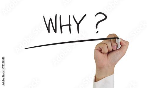 Leinwandbild Motiv Why Question