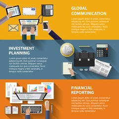 Communication, investment and reporting concept