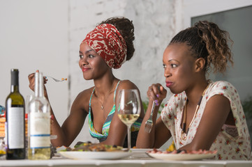 Friends Enjoying Meal
