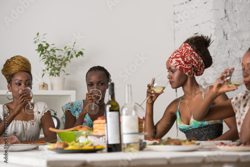 Friends Enjoying Meal - 78229512