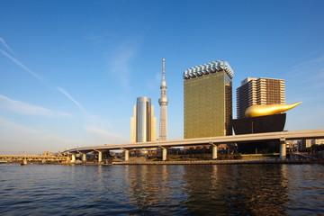 Tokyo sky tree and Sumida river at Tokyo city