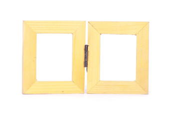 Wood frame with paper - Stock Image