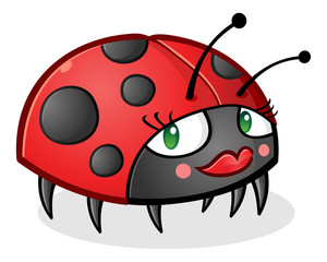 Ladybug Cartoon Character wearing Makeup