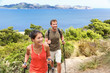 Hikers hiking in Mallorca mediterranean Europe - 78230740
