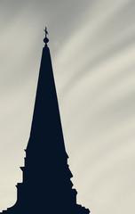 Kirchturmsilhouette