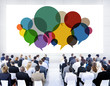canvas print picture - Business People Meeting Presentation Communication Concept