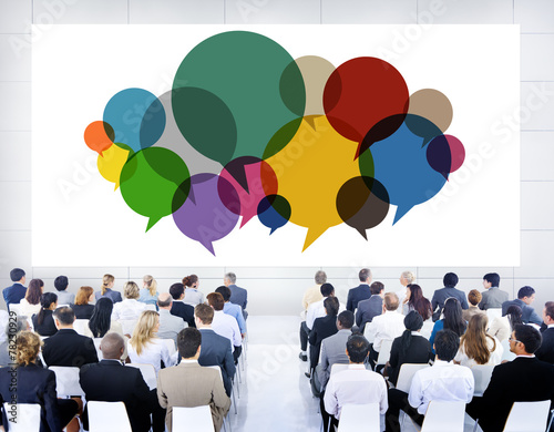 canvas print picture Business People Meeting Presentation Communication Concept