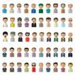 Flat Man Icons - Isolated On White Background