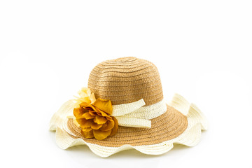 Woven hat.