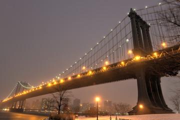 Manhattan Bridge, Snowstorm