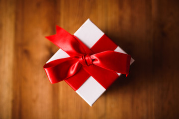 Gift box with wooden