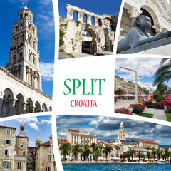 Collage of photos from Split. Croatia.