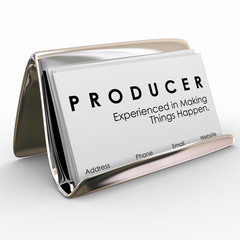 Producer Business Cards Experienced Making Things Happen