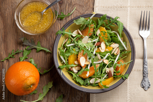 Fotobehang Salade Arugula Salad with Mandarin Vinaigrette