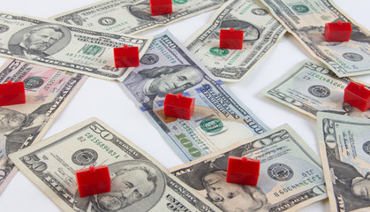 Housing market mortgage cost concept