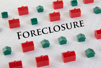 Housing market foreclosure concept