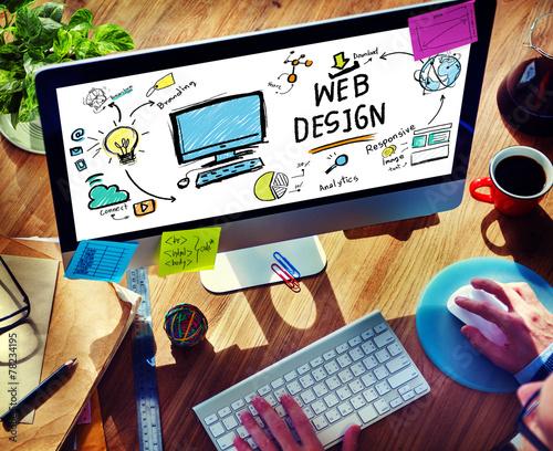 Content Creativity Digital Graphic Webdesign Webpage Concept - 78234195