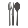 cutlery, silhouette