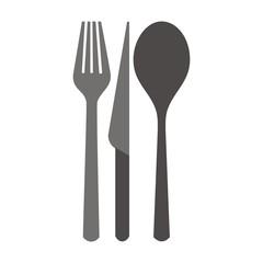 cutlery, silhouette