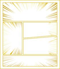 コミック 集中線 ゴールド
