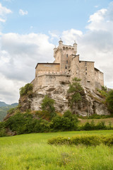 castle in the valley of Aosta, Italy