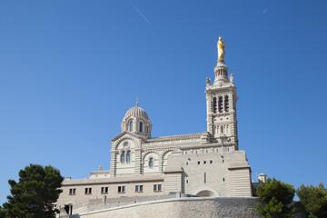 "The church ""Notre Dame de la Garde"" of Marseille in South France"