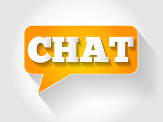 CHAT message bubble, business concept