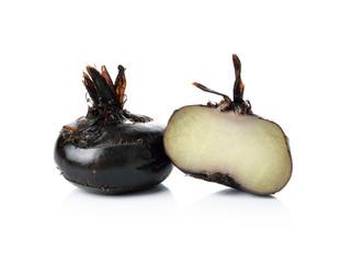 water chestnut on white background