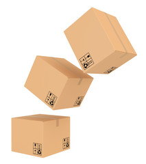 cardboard boxes with special characters