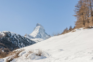 Zermatt, Dorf, Alpen, Winterwanderung, Wallis, Zmutt, Schweiz