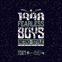 Fearless boys team emblem