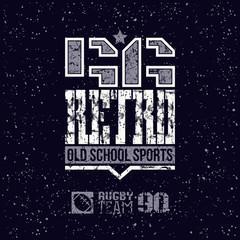 Retro sport team emblem