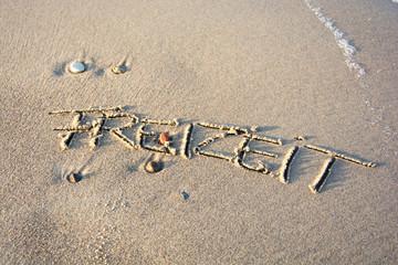 Strandschrift - Freizeit