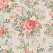seamless floral pattern with roses - 78239160