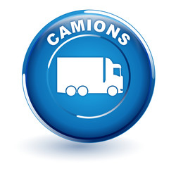 camions sur bouton bleu
