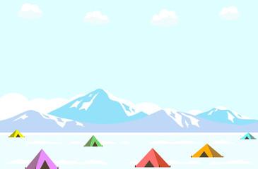 キャンプ 冬