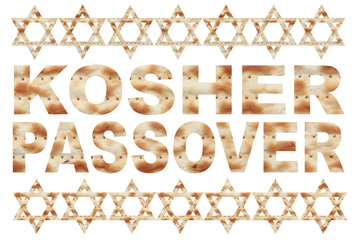 Kosher Passover text with Matzo letters