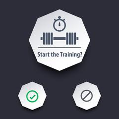 Start the training vector illustration, eps10, easy to edit