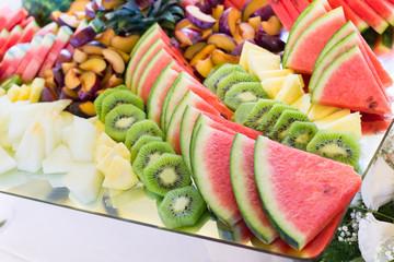 Frutta fresca nel buffet di nozze