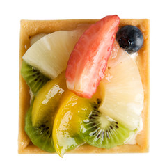 Delicious, strawberry pie, pineapple, kiwi, orange blueberries