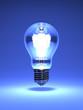 Electric Bulb On Blue