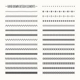 Hand drawn vector line border set and scribble design element - 78241788