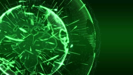 World News Globe Intro Teaser green