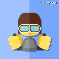 pilot flat icon
