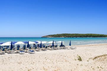 Spiaggia di Porto Pino, nel sud Sardegna, Italia