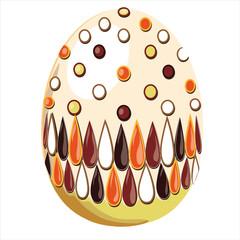 uovo di pasqua bianco decorato