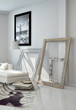 Frame Borders Leaning on White Wall