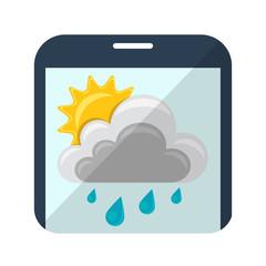 Icono clima en smartphone