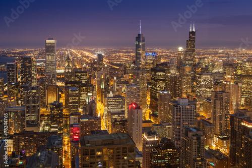 Staande foto Grote meren Chicago USA